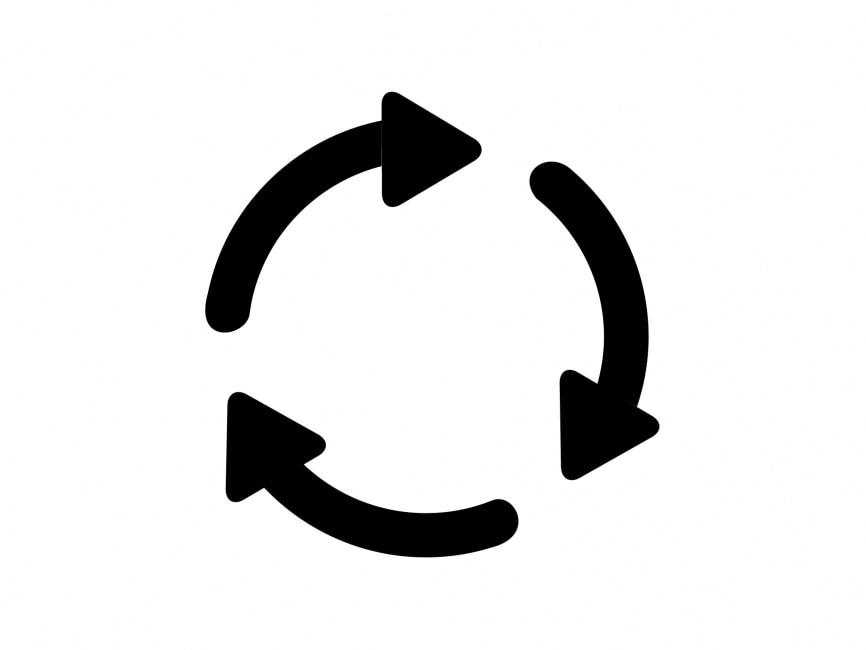 Three Circling Arrows