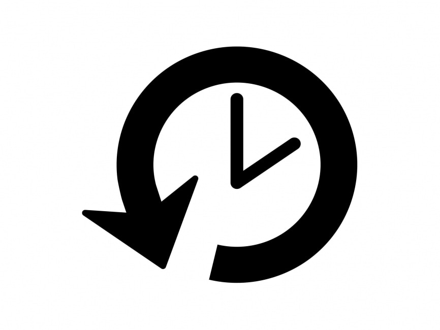 Clock Back Arrow