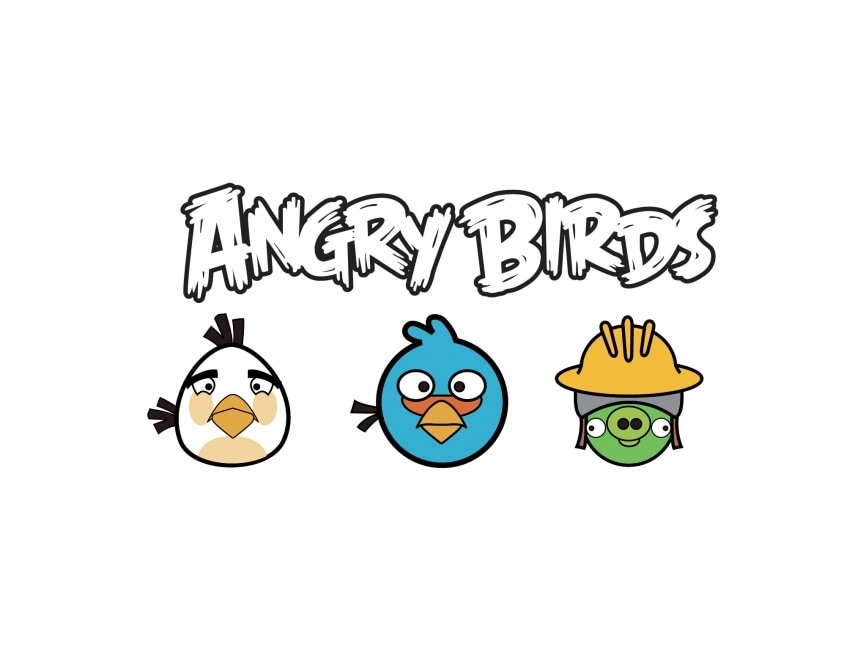 Images Of Angry Birds Characters: Angry Birds Logo And Characters Vector Logo