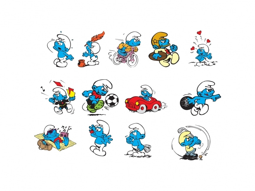 Smurfs Cartoon Characters