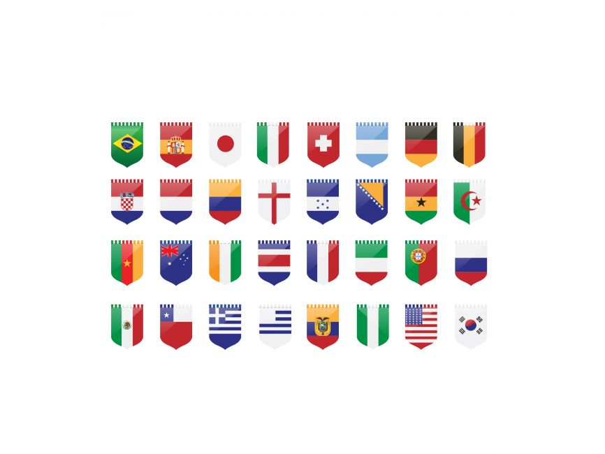 Country Flags Pennant