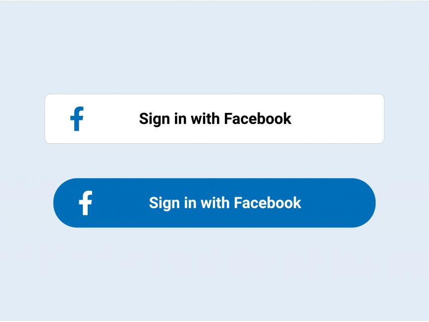 Sign in with Facebook Button