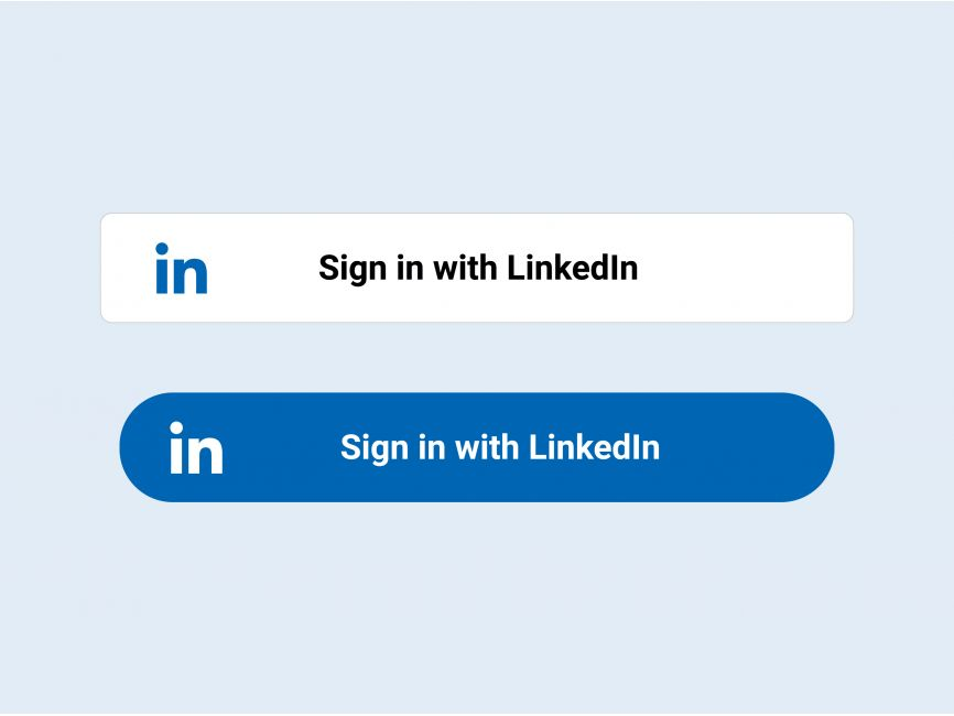 Sign in with LinkedIn Button