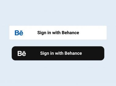 Sign in with Behance Button