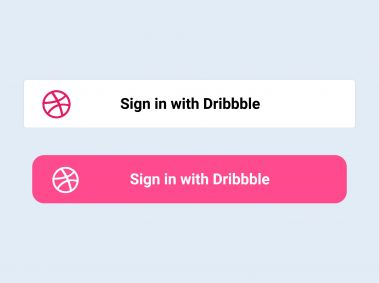 Sign in with Dribbble Button