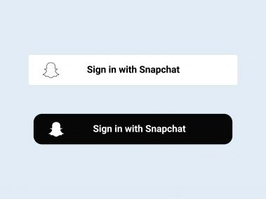Sign in with Snapchat Button