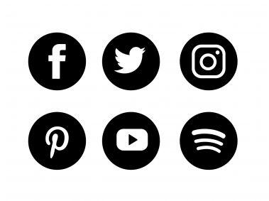 Social Media Black Set