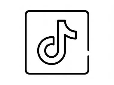 Tiktok Line Icon